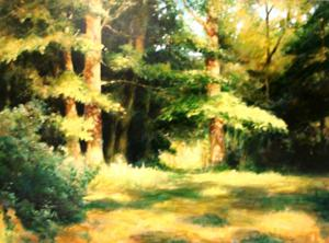"'Woodland Glade ""Landscape""' by Cunningham Peter"