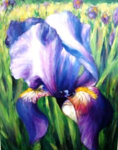 "'Purple Iris ""Floral""' by Cunningham Peter"