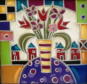 'Red House Bouquet #1' by Waugh Eric