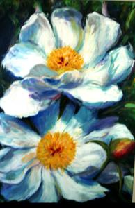 "'White Flowers ""Floral""' by Cunningham Peter"