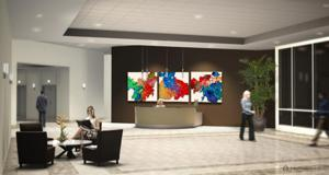 "'Interior2 Three White Canvases 2 ""Corporate Installations""' by Artmode"