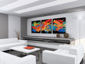 "'Interior-Big-Triptych 2 ""Corporate Installations""' by Artmode"