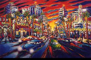 "'Hollywood Sunset ""Street Scenes""' by Talmadge James"