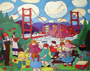 'Picnic on the Bridge' by Ananny Terry