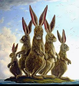 "'The Exiles ""Giclée on Canvas""' by Bissell Robert"