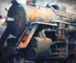 "'Big Blue ""Train""' by Cunningham Peter"