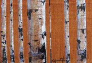 """'Toile sur bois Acajou de Gabon en Afrique I """"Birch""""' by Caouette Raymond"""