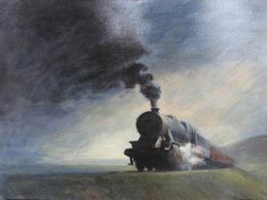 "'Rain, Wind and Storm ""Train""' by Cunningham Peter"