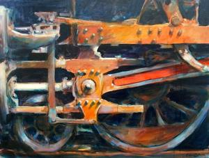 "'Motion in Orange and Blue ""Train""' by Cunningham Peter"
