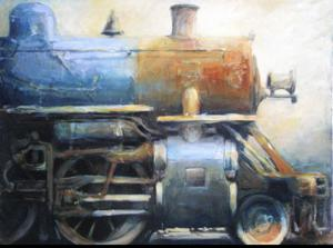 "'Iron Horse ""Train""' by Cunningham Peter"