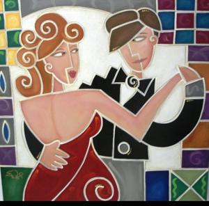 'Red Dress Tango' by Waugh Eric