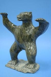 'Lake Harbour-Bear' by Inuit Sculpture