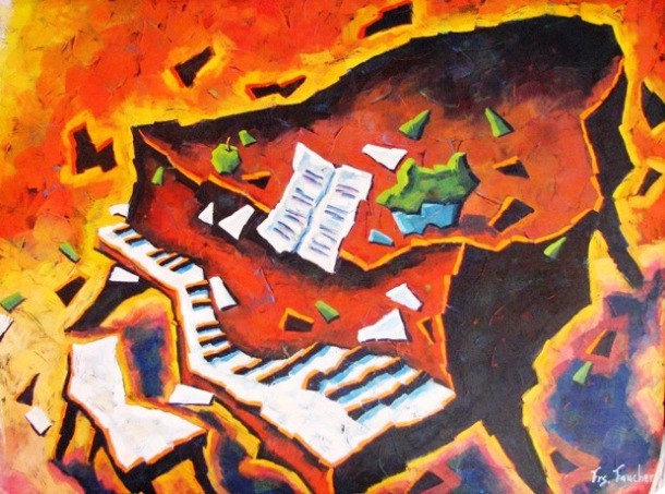 'Piano Fire' by Faucher Francois