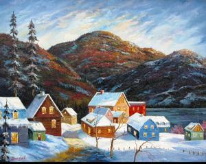 'Aldea en invierno' by Bacci Jesus
