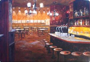 "'Bar Scene ""Street Scapes""' by Cohaila Eugenio"